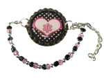 Heart Polka Dot Medical ID Bracelet
