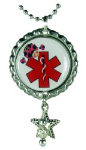Lady Bug Medical Necklace for Girls