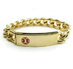 Gold Medical Bracelet for Men