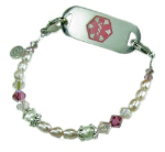 Allie's Silk Medical ID Bracelet