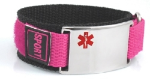 Large Medical ID Sports Band Pink