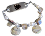 Mother of Pearl Medical Bracelet