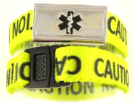 Kid's Medical ID Caution Band