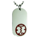 EMS Medium Medical Necklace Red