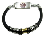 Triumph Leather Medical Alert ID Bracelet