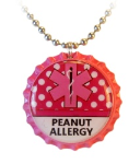 Peanut Allergy Dots Necklace