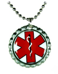 Red Cap EMS Necklace