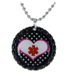 Red Polka Dot Medical ID Necklace
