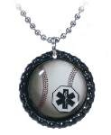 Baseball Medical Necklace