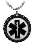 Black Cap 2 EMS Necklace