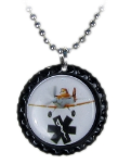 Dusty Black Medical ID Necklace