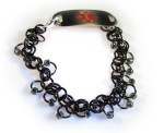Black Chainmail Medical ID Bracelet