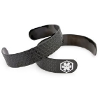 Black N White Medical ID Bracelet Cuff