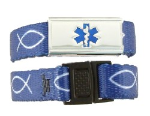 Royal Christian Fish Medical ID Band