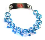 Blue Chainmail Medical ID Bracelet