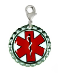 Red Cap Medical ID Charm