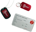 Combo Set Card Key Chain Necklace - CAD