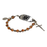 Copper Rosary Medical ID Bracelet