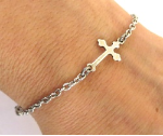 Small Cross Medical ID Bracelet