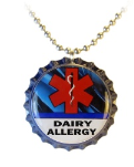 Dairy Allergy Blue Streak Necklace