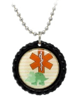 Dinosaur Medical ID Necklace 1