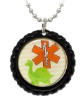 Dinosaur Medical ID Necklace 2