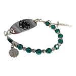 Emerald Rosary Medical Bracelet