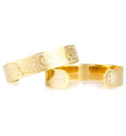 Fanciful Gold Medical ID Cuff