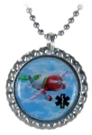 GeeBee Silver Medical ID Necklace