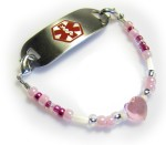 Girl's Pink Medical ID Bracelet
