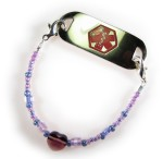 Girl's Lavender Medical Bracelet