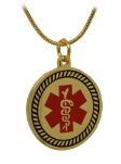 Golden Star of Life With Snake Chain