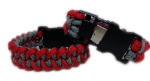 Grey and Red Paracord USB