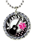 Guitar Medical ID Necklace 3