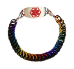 Half Persian Rainbow Medical Bracelet
