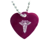 Medium Medical Alert ID Necklace Heart-Cad