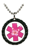 Hot Pink 2 Butterfly Necklace