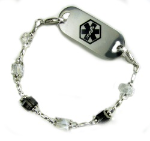 Crystal Moonlight Medical Bracelet
