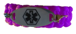 Durable Medical ID Bracelet Purple