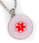 Pretty Pink Girls Medical Necklace
