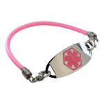 Easy Peasy Pink Medical ID Bracelet