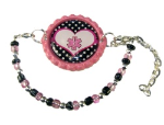 Pink Polka Dot Medical ID Bracelet