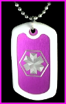 EMS Dog Tag in Purple