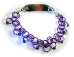 Purple Chainmail Medical ID Bracelet