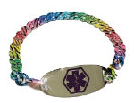 Rainbow Zebra Medical ID Bracelet