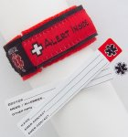 Red Medical Alert ID Sports Band