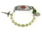 Green Rosary Medical Bracelet
