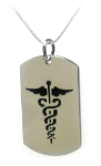 Caduceus Necklace and Snake Chain