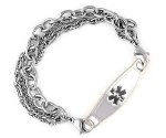 Triple Chain Medical ID Bracelet