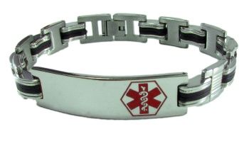 Red EMS Medical Bracelet for Men